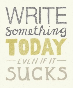 Write something today