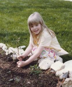 Amanda in the garden