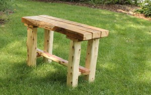 Finished Cedar Bench