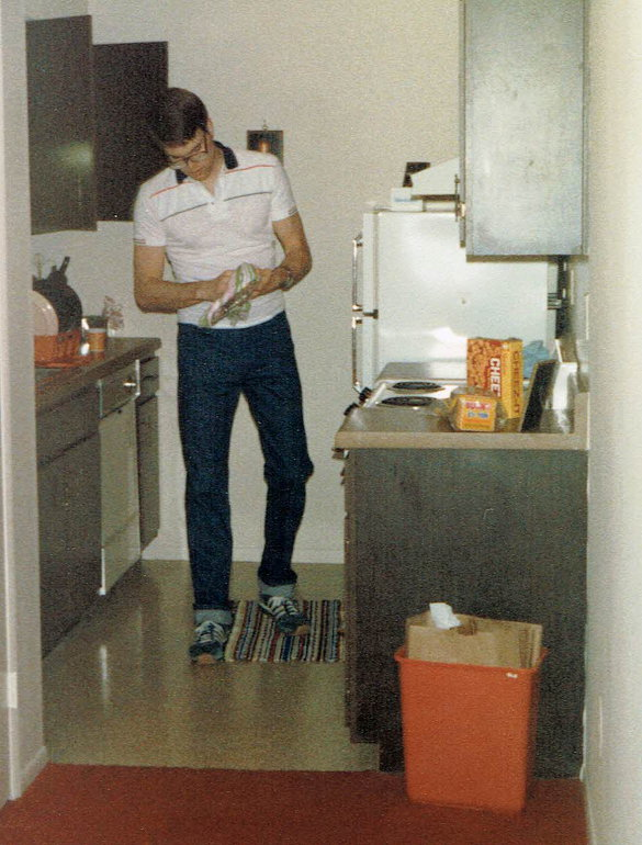 From the NicholsNotes archive - the only surviving picture of John's bachelor pad.