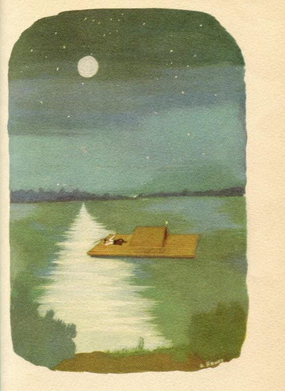 The Adventures of Huckleberry Finn by Mark Twain, 1947 Rainbow Classic