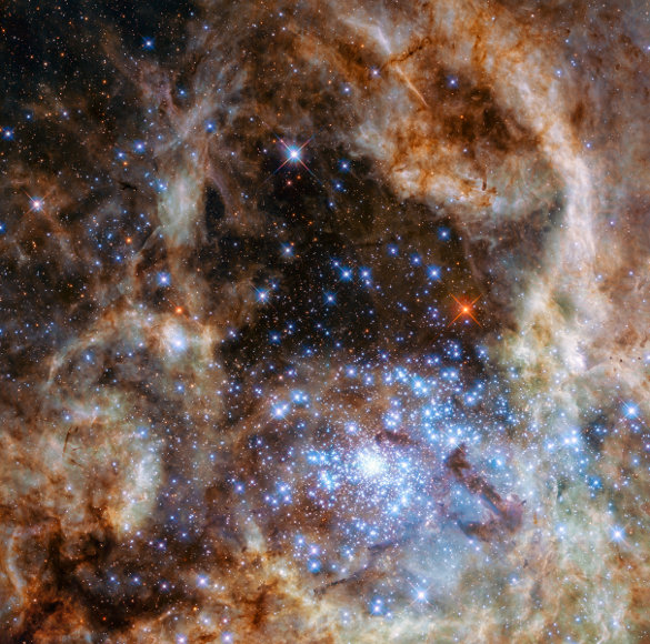 Hubble Space Telescope - Star Cluster 136