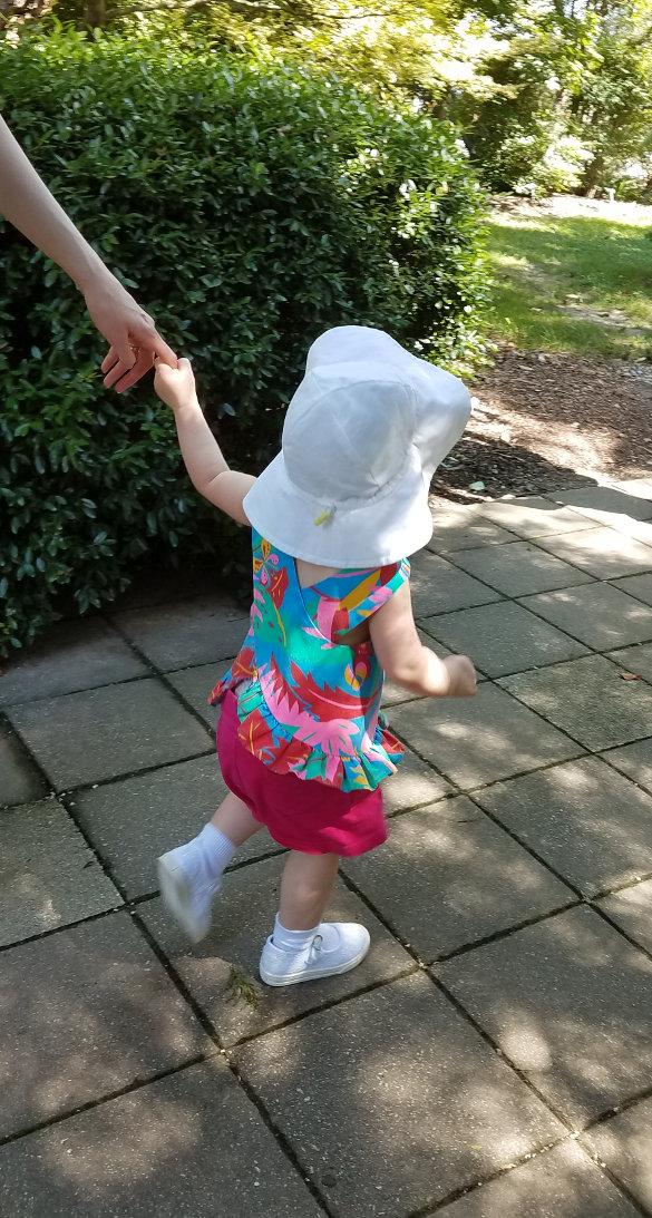 Child walking.