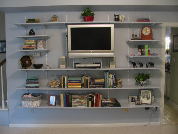Completed Wall of Shelves