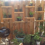 Container Gardening Shelves Planted