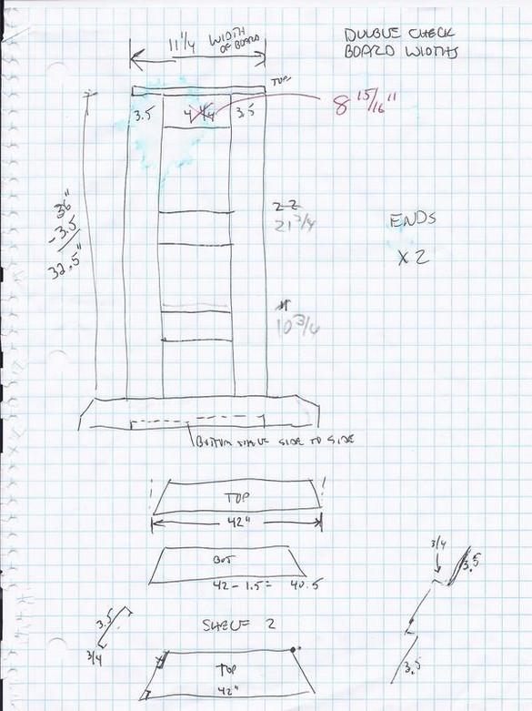 Corner Shelf Plan