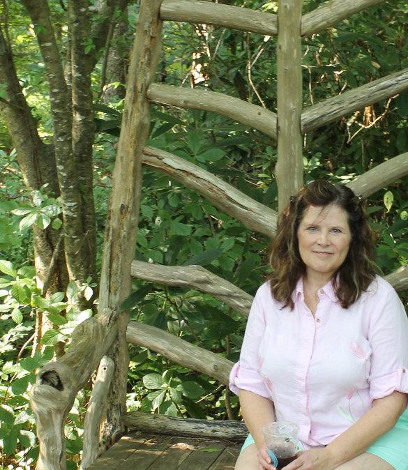 ShawnStoryTellerBench NC Botanical Gardens 7_6_14