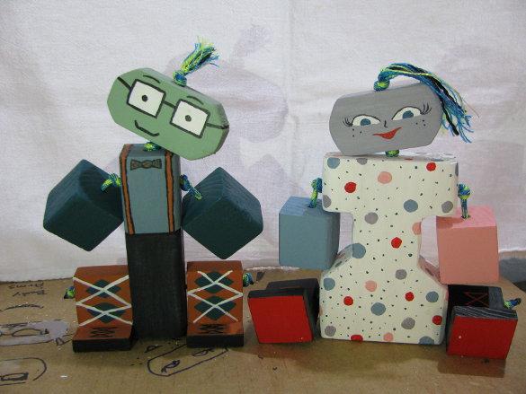 Wooden Toy Figures (2)