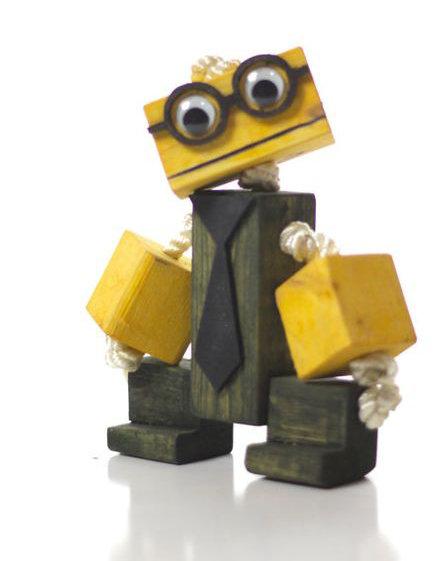 Wooden Toy Figures (3)