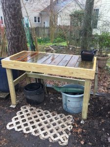 Our New Potting Bench