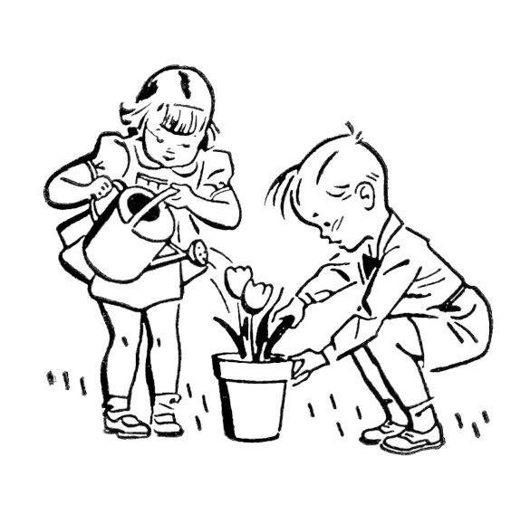 Retro-Kids-Gardening-GraphicsFairy3