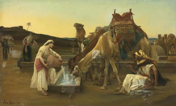 Alexandre_Cabane Rebekah Meets Eliezer 1883